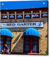 The Red Garter Acrylic Print