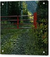 The Red Gate Acrylic Print