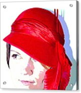 The Red Hat II Acrylic Print