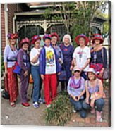 The Red Hat Ladies At The Catfish Plantation Acrylic Print