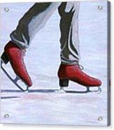 The Red Ice Skates Acrylic Print