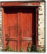 The Red Mill Door Acrylic Print