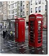 The Red Phone Booth Acrylic Print