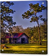 The Red Roof Barn Acrylic Print by Marvin Spates