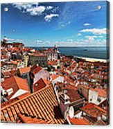 The Red Roofs Of Lisbon #2 Acrylic Print
