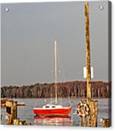 The Red Sailboat Acrylic Print