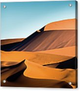 The Red Sand Dunes In Namibia Acrylic Print