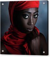 The Red Scarf Acrylic Print