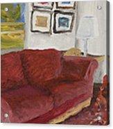 The Red Sofa Acrylic Print