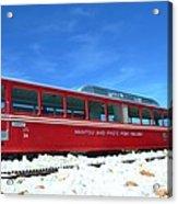 The Red Train Acrylic Print