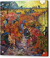 The Red Vineyard Acrylic Print