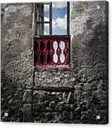 The Red Window Acrylic Print