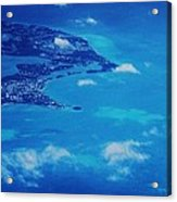 Bermuda Blue, Aerial Acrylic Print