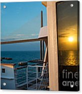 The Reflection Of A Crossing Gold To Blue Acrylic Print