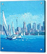 The Regatta Sydney Habour By Jan Matson Acrylic Print