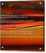 The Renewal Poem Acrylic Print