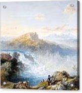 The Rhine Falls At Schaffhausen Acrylic Print