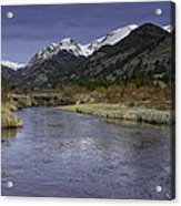 The River Flows Acrylic Print by Tom Wilbert