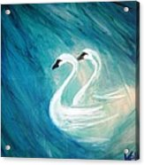 The River Of Swans Acrylic Print