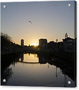 The River Swiffey At Sunrise - Dublin Ireland Acrylic Print