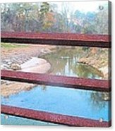 The River Through The Rails Acrylic Print