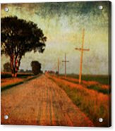 The Road Home Acrylic Print by Julie Hamilton
