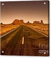 The Road To Monument Valley -utah  Acrylic Print
