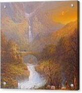 The Road To Rivendell The Lord Of The Rings Tolkien Inspired Art  Acrylic Print by Joe  Gilronan