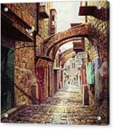 The Road To The Cross  Jerusalem Acrylic Print