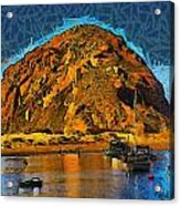 The Rock At Morro Bay Abstract Acrylic Print