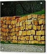 The Rock Wall Acrylic Print