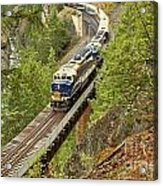 The Rocky Mountaineer Above The Cheakamus River Acrylic Print