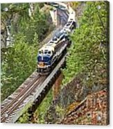 The Rocky Mountaineer Railroad Acrylic Print