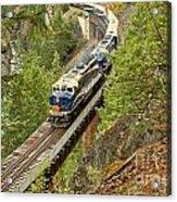 The Rocky Mountaineer Train Acrylic Print