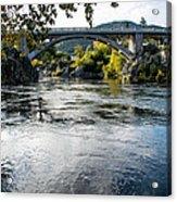 The Rogue River At Gold Hill Bridge Acrylic Print