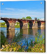 The Roman Bridge Over Mosel River In Acrylic Print