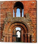 The Romanesque Doorway In The Monastery Acrylic Print