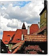 The Roofs Of Sibiu In Transylvania Acrylic Print