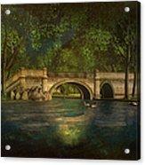 The Rose Pond Bridge 06301302 - By Kylie Sabra Acrylic Print
