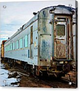 The Roundhouse Evanston Wyoming Dining Car - 1 Acrylic Print