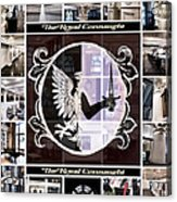 The Royal Connaught Crest Photo Collage Acrylic Print