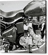 The Royal Enfield Motorbike Acrylic Print