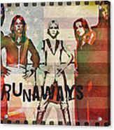 The Runaways - 1977 Acrylic Print