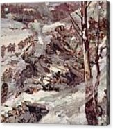The Russians Fighting Their Way Over The Carpathians Acrylic Print