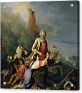 The Russians In 1812, 1855 Oil On Canvas Acrylic Print