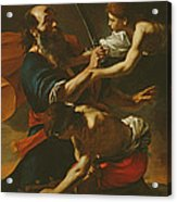 The Sacrifice Of Isaac, 1613 Oil On Canvas Acrylic Print