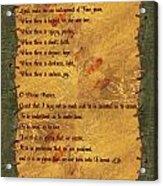 The Saint Francis Prayer Acrylic Print