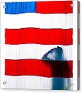 American Flag Salute Acrylic Print