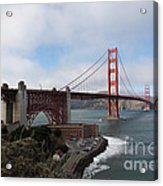 The San Francisco Golden Gate Bridge - 5d18909 Acrylic Print by Wingsdomain Art and Photography