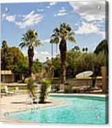The Sandpiper Pool Palm Desert Acrylic Print